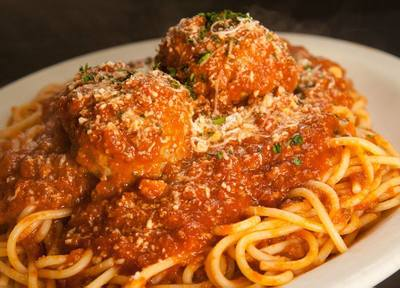 Spaghetti and meatballs from Italian restaurant for sale in St. Louis